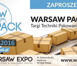 Zapraszamy na targi Warsaw Pack 2016 hala F stoisko nr 94